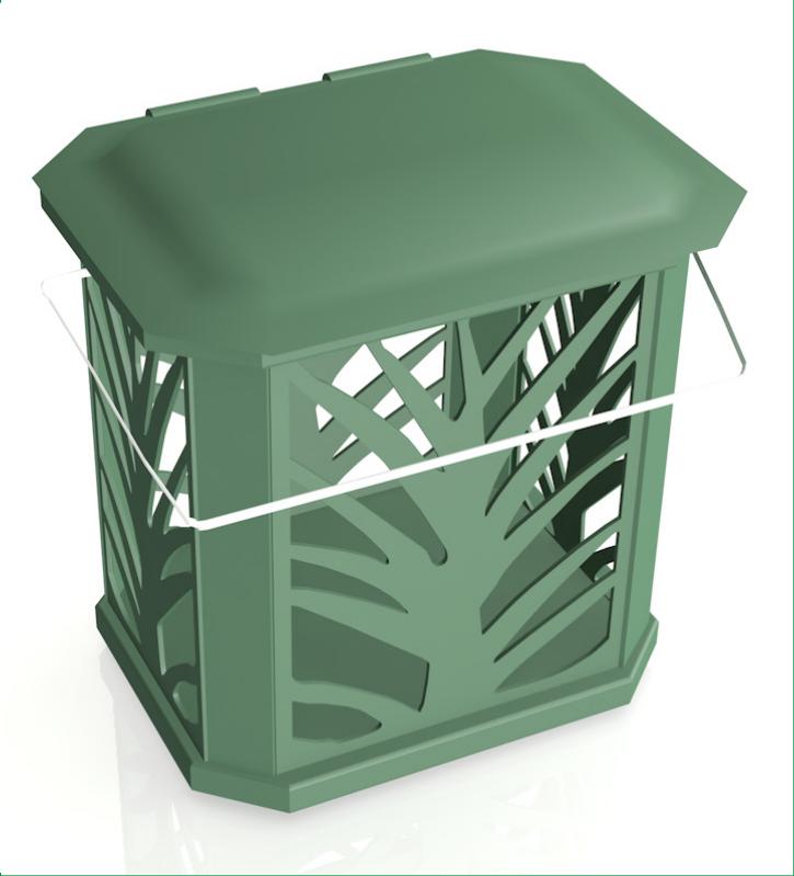 BioBag avfallssekk 80 liter (20 stk) med beholder